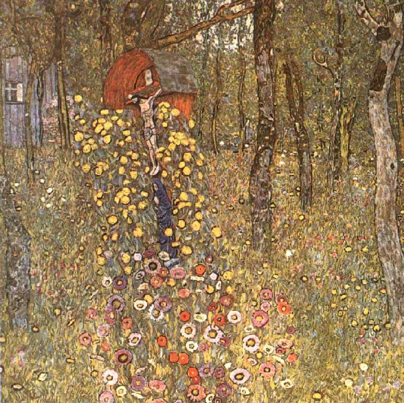 Farm Garden with Crucifix, 1911 by Gustav Klimt (1862-1918, Austria) | Art Reproductions Gustav Klimt | WahooArt.com
