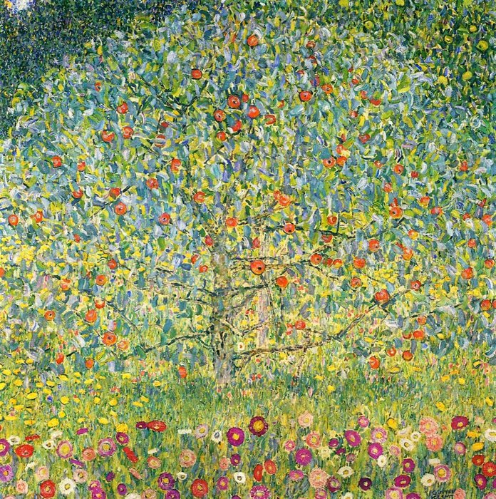 Apple Tree01, Oil by Gustav Klimt (1862-1918, Austria)