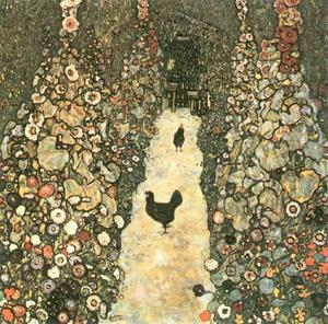 Gustav Klimt - Garden Path with Chickens