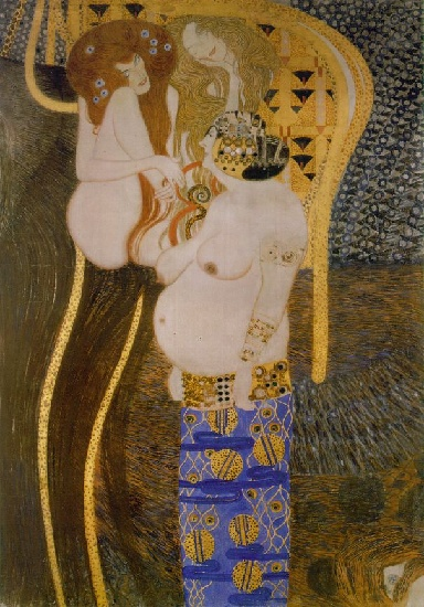 Beethoven Frieze by Gustav Klimt (1862-1918, Austria) | Paintings Reproductions Gustav Klimt | WahooArt.com