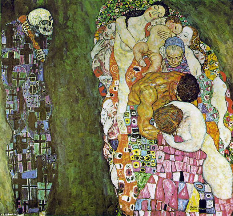 Death and Life, 1908 by Gustav Klimt (1862-1918, Austria) | Painting Copy | WahooArt.com
