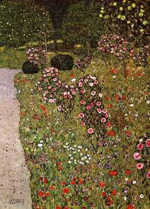 Gustav Klimt - Fruitgarden with Roses, 1911 - 12 - Private Collection