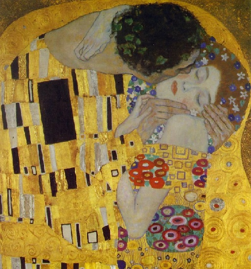 The Kiss (Detail), Oil by Gustav Klimt (1862-1918, Austria)