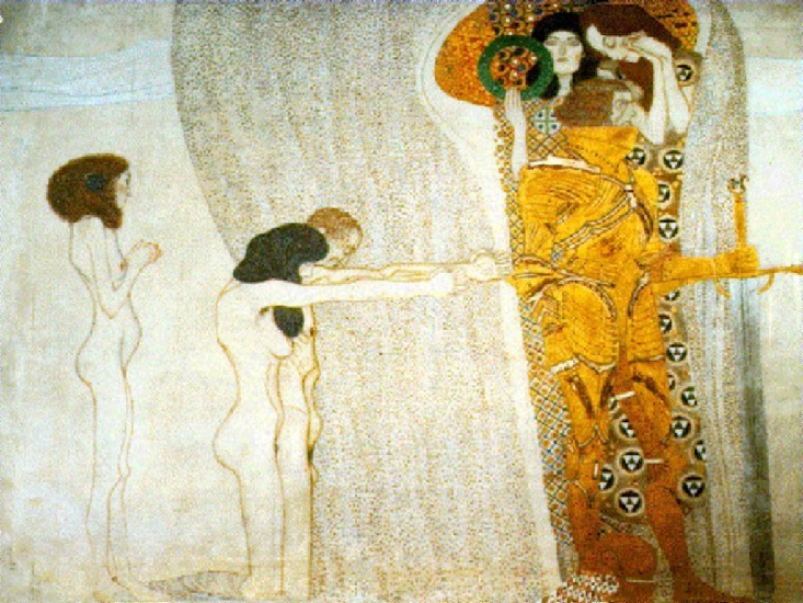The Beethoven Frieze, 1902 - Secession Building, Vienna by Gustav Klimt (1862-1918, Austria) | Reproductions Gustav Klimt | WahooArt.com