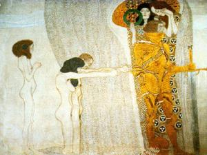 Order Reproductions | The Beethoven Frieze, 1902 - Secession Building, Vienna by Gustav Klimt (1862-1918, Austria) | WahooArt.com