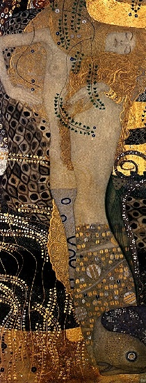 Water Serpents I by Gustav Klimt (1862-1918, Austria) | Famous Paintings Reproductions | WahooArt.com