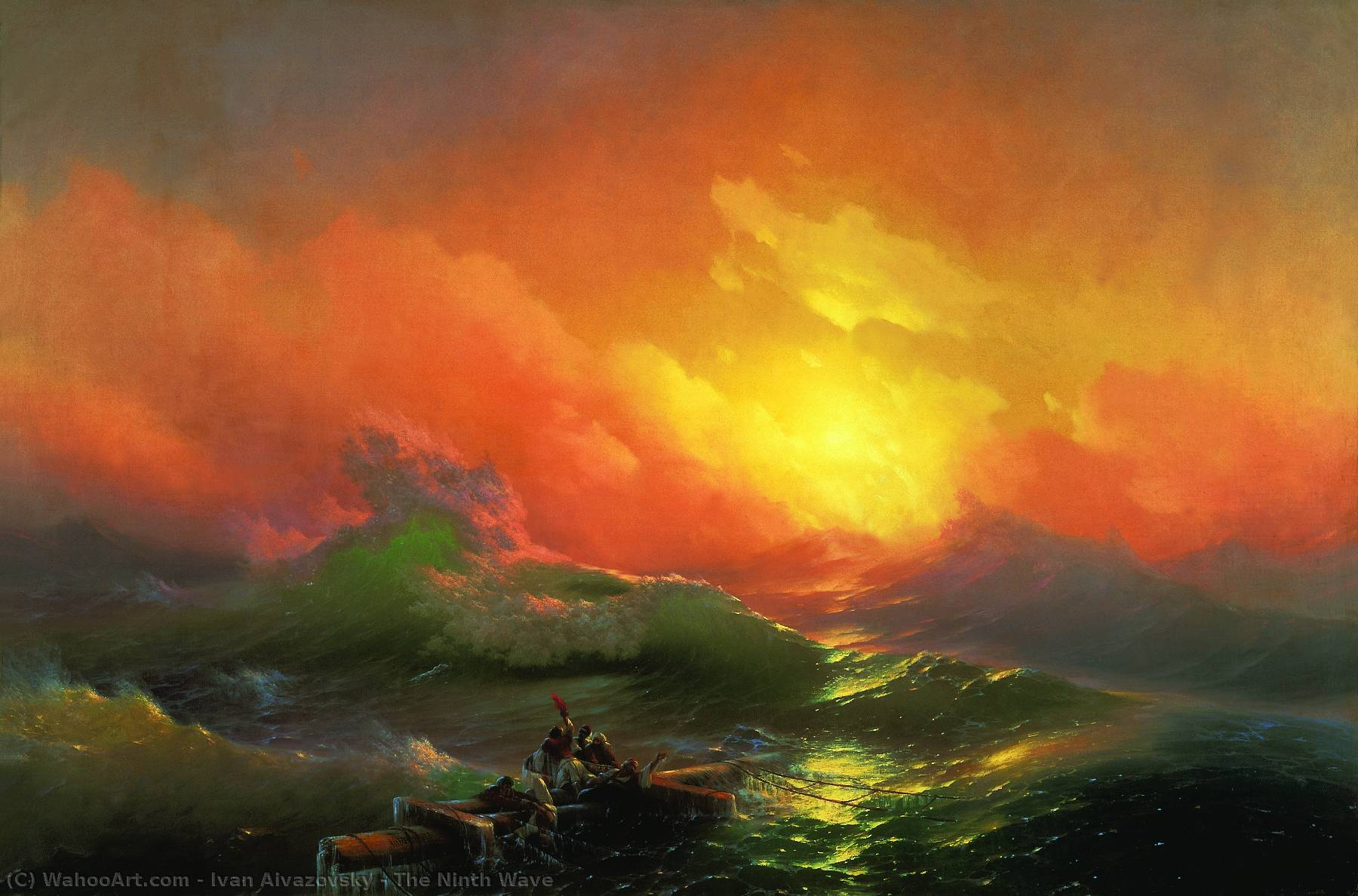 The Ninth Wave, 1850 by Ivan Aivazovsky (1817-1900, Russia) | Art Reproduction | WahooArt.com