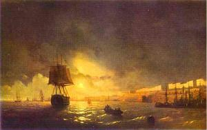Ivan Aivazovsky - View of Odessa by Moonlight