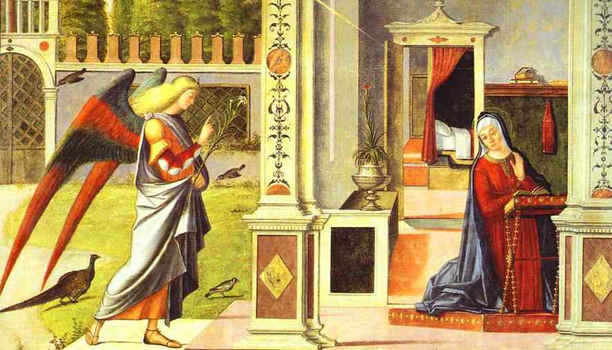 Annunciation by Vittore Carpaccio (1465-1526, Italy) | Painting Copy | WahooArt.com