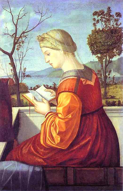 The Madonna Reading, Oil by Vittore Carpaccio (1465-1526, Italy)