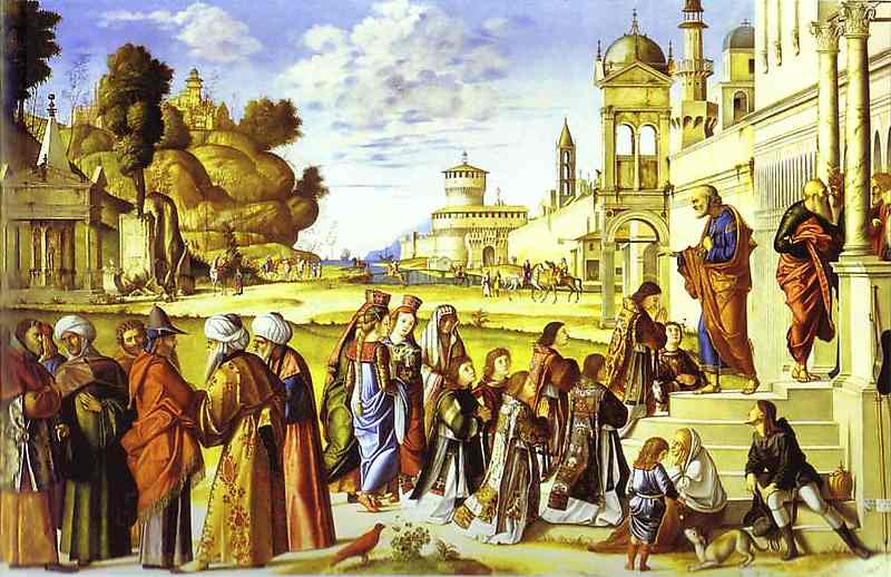 The Ordination of St. Stephen as Deacon, Oil by Vittore Carpaccio (1465-1526, Italy)