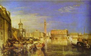 William Turner - Bridge of Signs, Ducal Palace and Custom-House, Venice Canaletti Painting