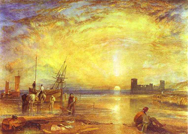 Flint Castle, 1838 by William Turner (1775-1851, United Kingdom) | Reproductions William Turner | WahooArt.com