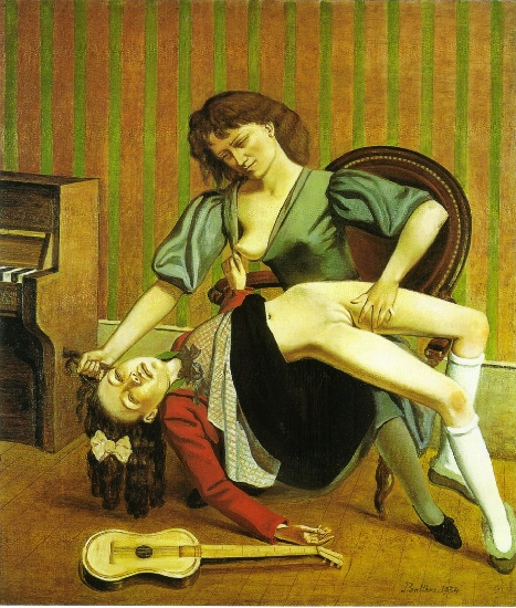The Guitar Lesson, 1934 by Balthus (Balthasar Klossowski) (1908-2001, France) | Oil Painting | WahooArt.com