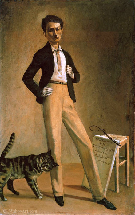 The King of the Cats, 1935 by Balthus (Balthasar Klossowski) (1908-2001, France)