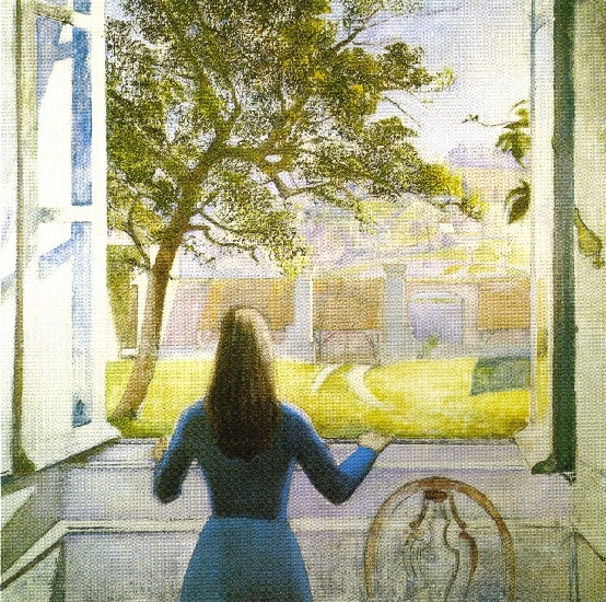 Young girl at the window 1957 by balthus balthasar for Fille a la fenetre