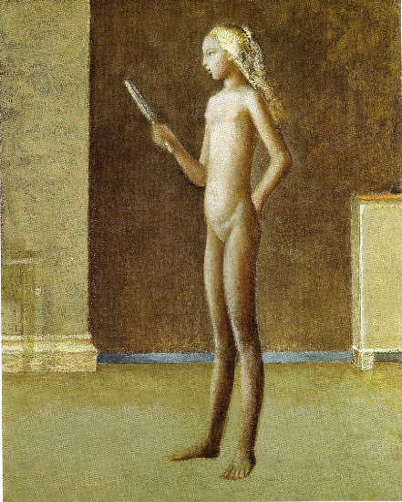 Naked in the mirror, 1981 by Balthus (Balthasar Klossowski) (1908-2001, France)