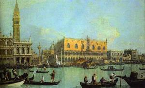 Giovanni Antonio Canal (Canaletto) - A View of the Ducal Palace in Venice