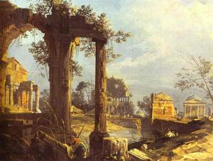 Giovanni Antonio Canal (Canaletto) - Capriccio - View with Ruins