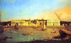 Giovanni Antonio Canal (Canaletto) - London - Greenwich Hospital from the North Bank of the Thames