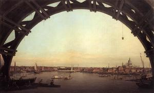 Giovanni Antonio Canal (Canaletto) - London seen through an arch of Westminster Bridge