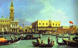 Giovanni Antonio Canal (Canaletto) - The Bucintoro at the Molo on Ascension Day