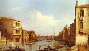 Giovanni Antonio Canal (Canaletto) - The Grand Canal from Campo S. Vio towards the Bacino