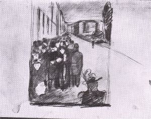 Edvard Munch - Night street Karl Johan 02