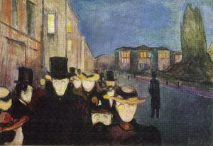 Edvard Munch - Night street Karl Johan 03
