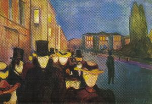 Edvard Munch - Night street Karl Johan