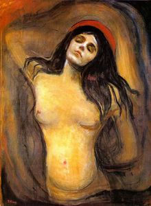 Order Museum Quality Reproductions : Madonna, 1894 by Edvard Munch (1863-1944, Sweden) | WahooArt.com