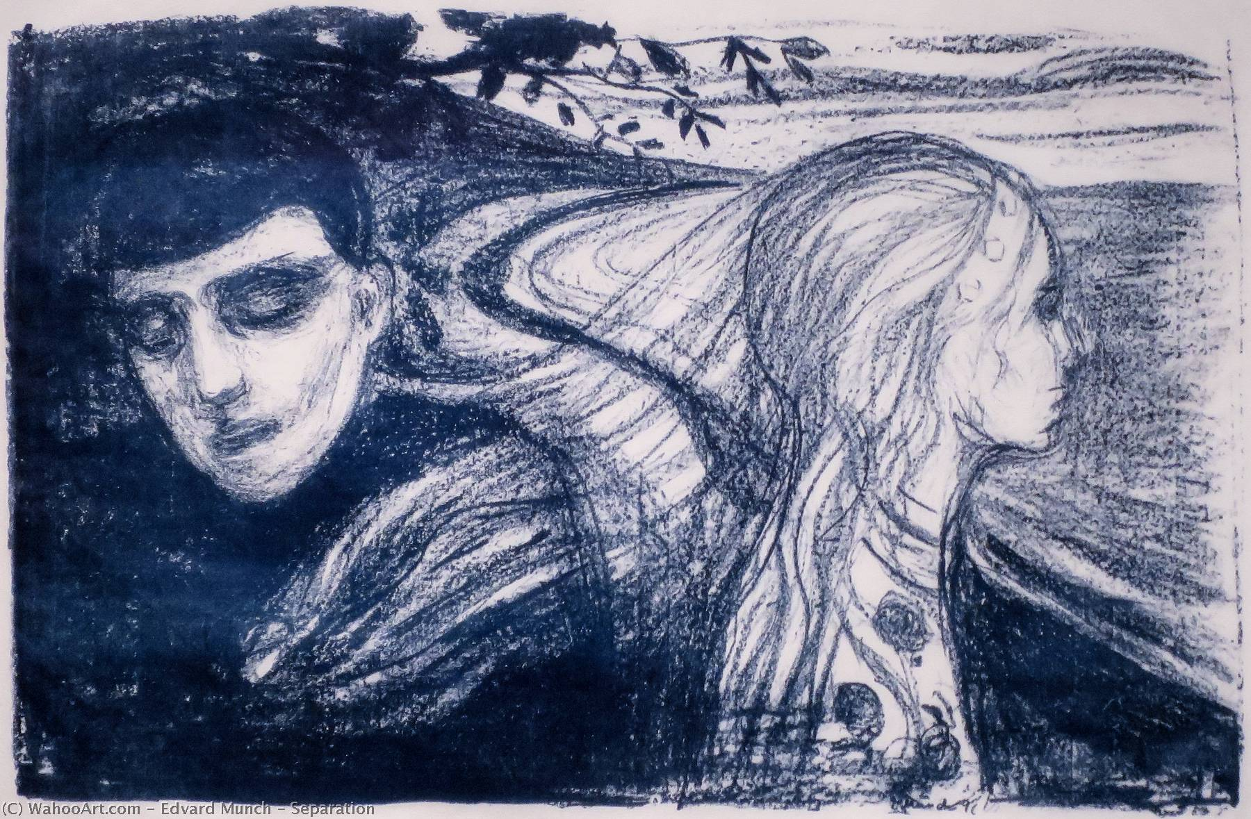 Order Art Reproduction : Separation, 1896 by Edvard Munch (1863-1944, Sweden) | WahooArt.com