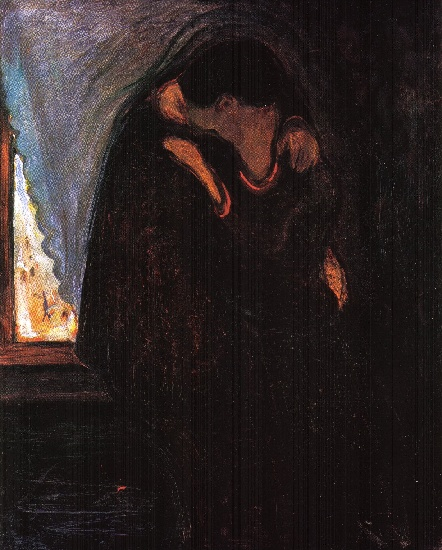 The Kiss 2, 1897 by Edvard Munch (1863-1944, Sweden) | Museum Quality Reproductions | WahooArt.com