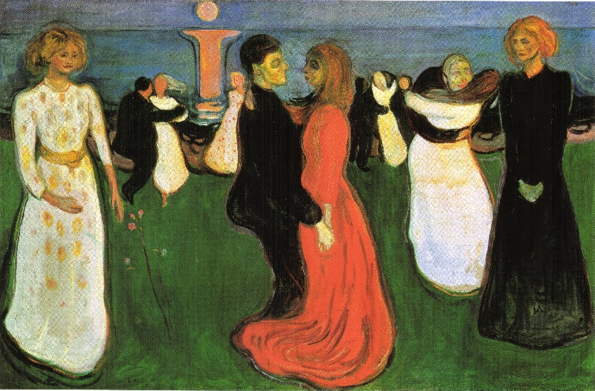 The Dance of Life, 1899 by Edvard Munch (1863-1944, Sweden) | Paintings Reproductions Edvard Munch | WahooArt.com
