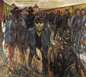 Edvard Munch - Workers returning home