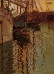 Egon Schiele - Harbour of Trieste