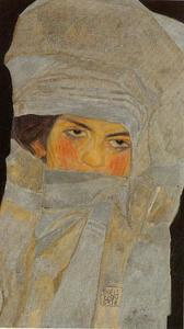 Egon Schiele - Portrait of Melanie (the artist's sister)