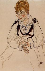 Egon Schiele - The Artist's Wife Seated