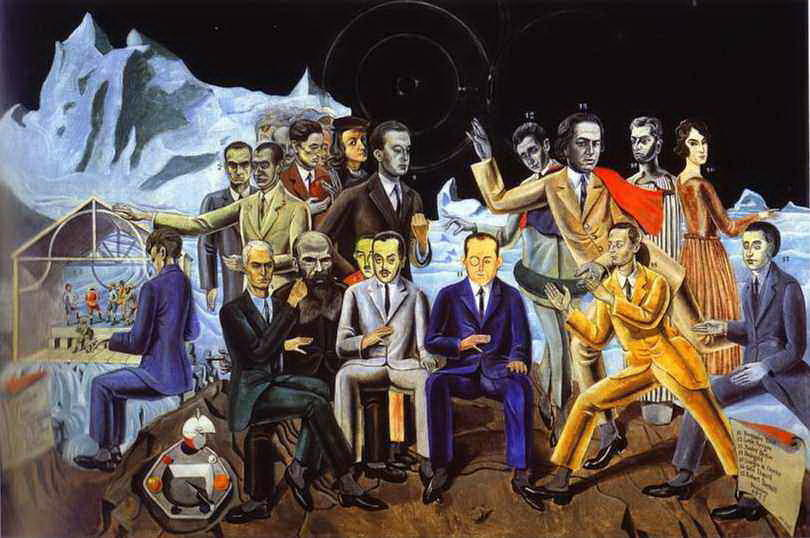 A Friends' Reunion, Oil On Canvas by Max Ernst (1891-1976, Germany)