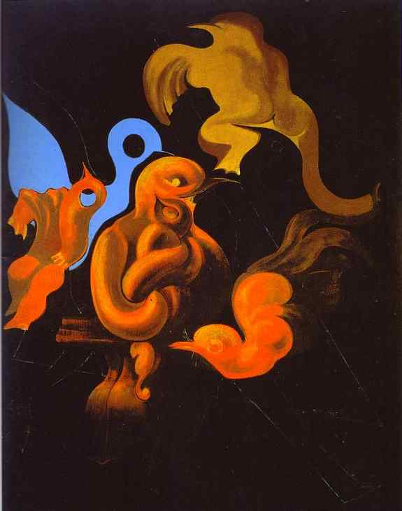 After Us Motherhood, Oil by Max Ernst (1891-1976, Germany)