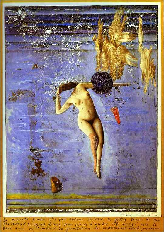 Approaching Puberty or The Pleiads, Oil by Max Ernst (1891-1976, Germany)