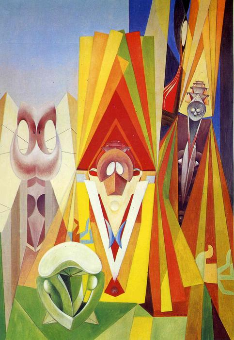 Feast of the God, Oil On Canvas by Max Ernst (1891-1976, Germany)