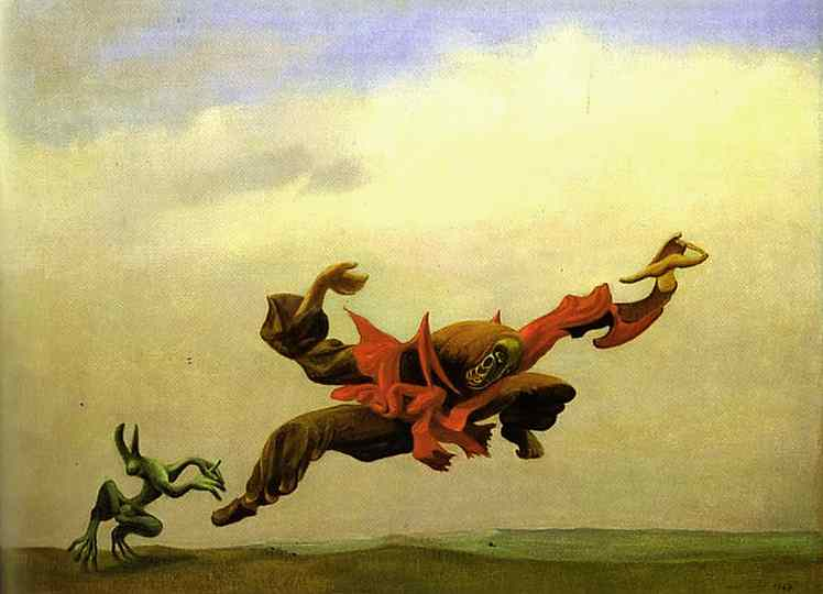 The Angel of Hearth and Home by Max Ernst (1891-1976, Germany) | Oil Painting | WahooArt.com