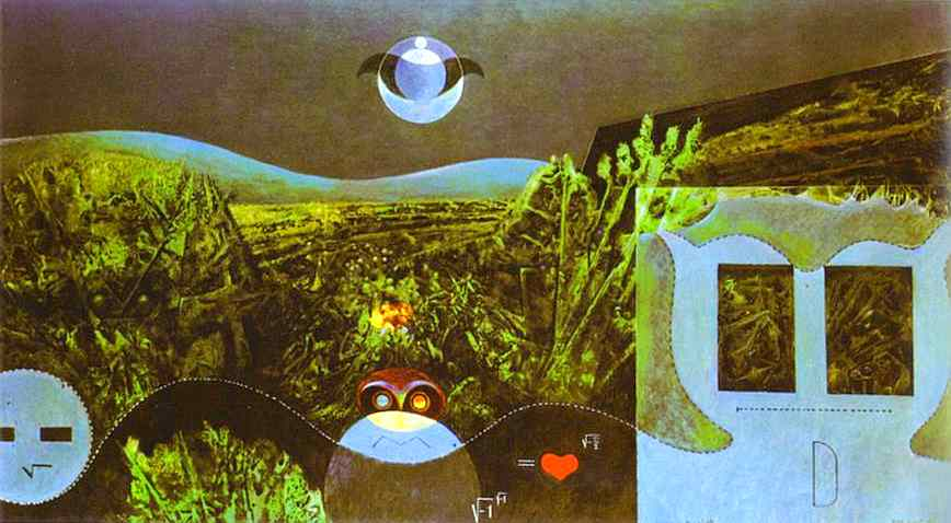 The Phases of the Night, Oil On Canvas by Max Ernst (1891-1976, Germany)