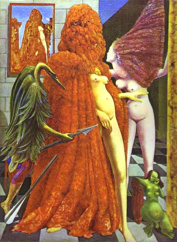 The Robing of the Bride by Max Ernst (1891-1976, Germany) | WahooArt.com