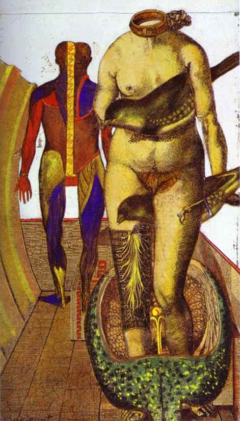 The Word or Woman-Bird, Oil by Max Ernst (1891-1976, Germany)