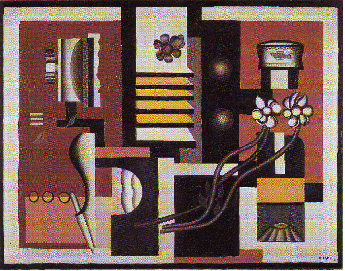 Still Life, 1927 by Fernand Leger (1881-1955, France) | Painting Copy | WahooArt.com