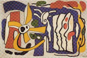 Fernand Leger - Composition of the three profiles