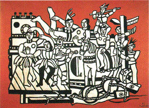 Fernand Leger - The parade on red