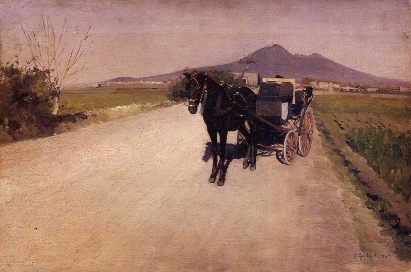 A Road Near Naples, 1872 by Gustave Caillebotte (1848-1894, France) | Art Reproductions Gustave Caillebotte | WahooArt.com